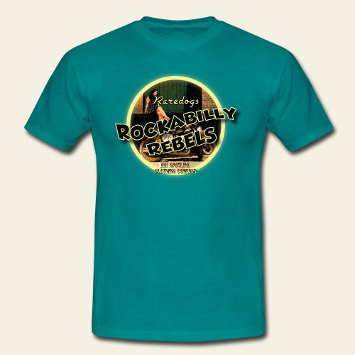 rockabilly rebels pinup - Herre-T-shirt
