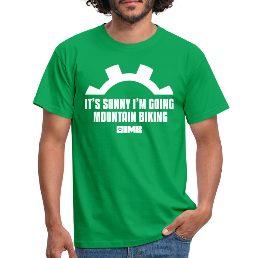 It's Sunny I'm Going Mountain Biking - Men's T-Shirt - kelly green