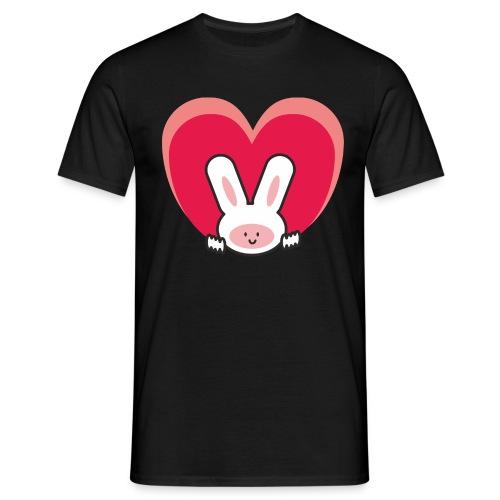 conejo amoroso - Camiseta hombre