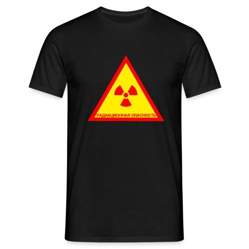 Achtung Radioaktiv Russisch - Männer T-Shirt