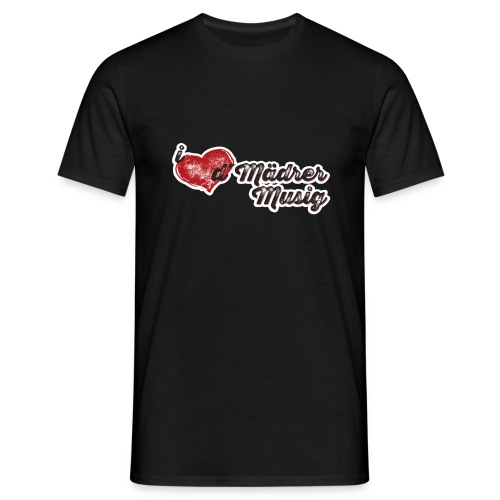 I LOVE d´Mäderer Musig - Männer T-Shirt