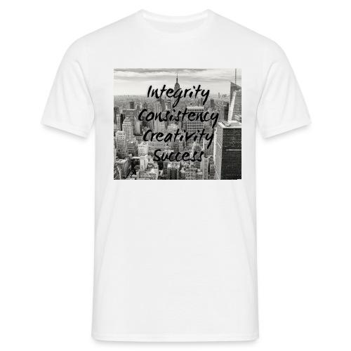 Integrity, consistency, creativity, SUCCESS - Men's T-Shirt