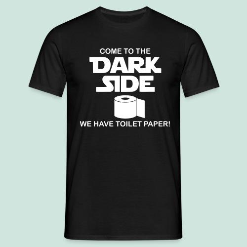 Toilettenpapier Dark Side - Männer T-Shirt
