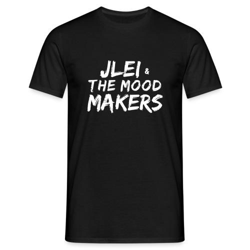 Jlei & The Mood Makers Schriftzug Weiss - Männer T-Shirt
