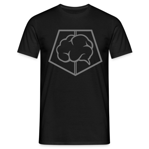 brainless-logo-grey - Maglietta da uomo