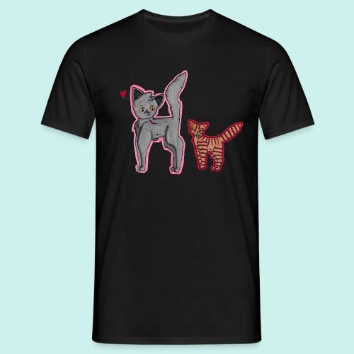 cat and kitten - Miesten t-paita