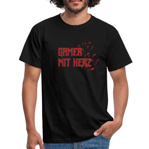 Gamer with heart - Men's T-Shirt