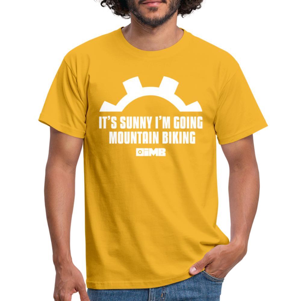 It's Sunny I'm Going Mountain Biking - Men's T-Shirt - yellow