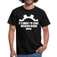 It's Sunny I'm Going Mountain Biking - Men's T-Shirt - black