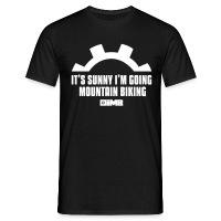 It's Sunny I'm Going Mountain Biking - Men's T-Shirt - diva blue