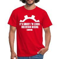 It's Sunny I'm Going Mountain Biking - Men's T-Shirt - red