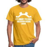 It's Sunny I'm Going Mountain Biking - Men's T-Shirt - yellow