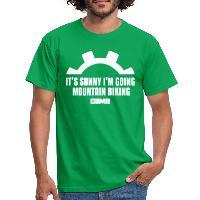 It's Sunny I'm Going Mountain Biking - Men's T-Shirt - kelly green