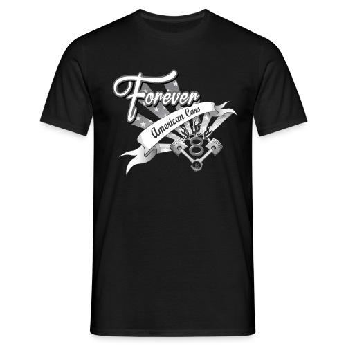 Forever American Cars - T-shirt herr