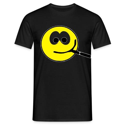 Smilie dampft - Männer T-Shirt
