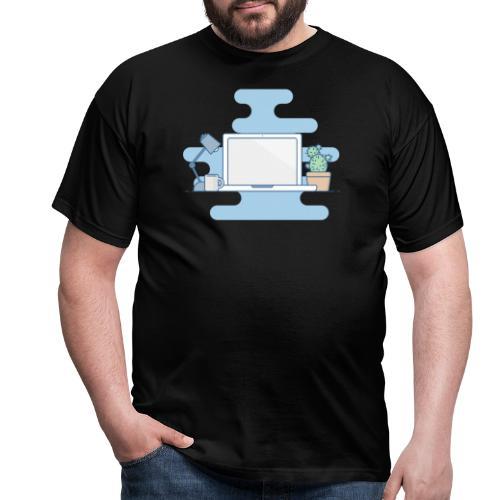 Arbeitstisch - Männer T-Shirt