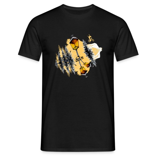 Ride & Tek orange - T-shirt Homme