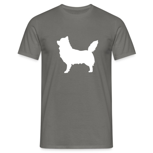 Chihuahua pitkakarva valkoinen - Miesten t-paita