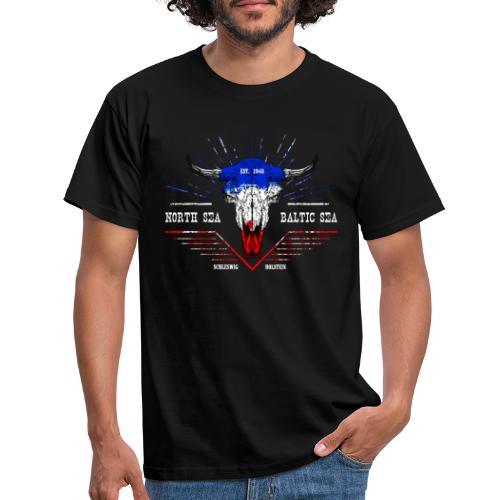 Bull Skull North Sea Baltic Sea - Männer T-Shirt