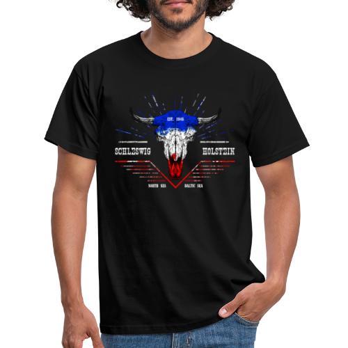 Bull Skull Schleswig-Holstein - Männer T-Shirt