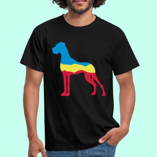 Flaggen Dogge - Männer T-Shirt