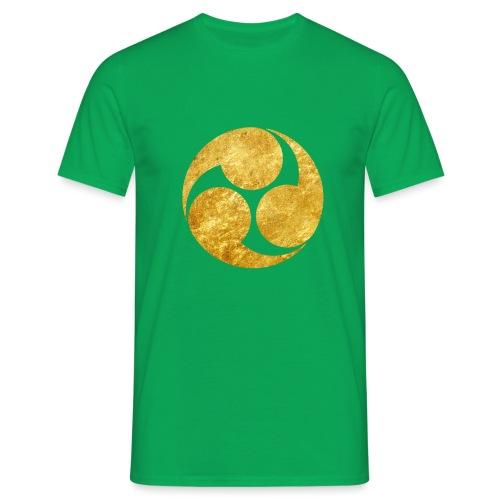 Kobayakawa Mon Japanese clan gold on black - Men's T-Shirt