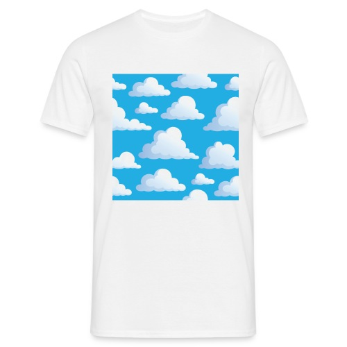 Cartoon_Clouds - Men's T-Shirt