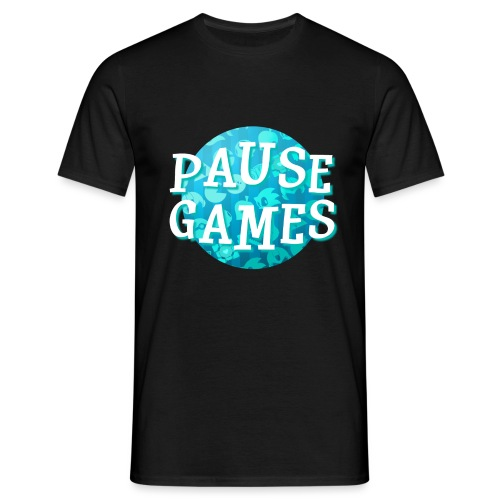 Pause Games New Design Blue - Men's T-Shirt