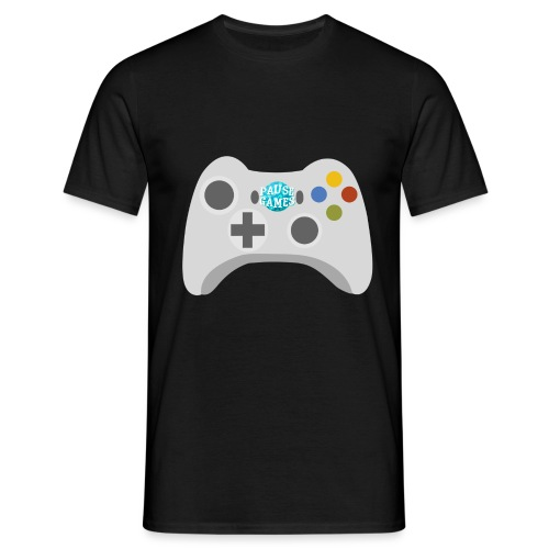 Pause Games Controller Logo - Men's T-Shirt