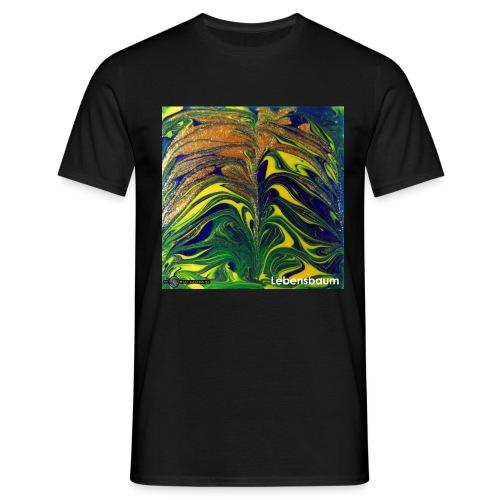 TIAN GREEN Mosaik DE029 - Lebensbaum - Männer T-Shirt