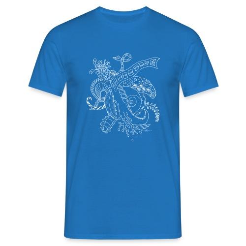 Fantasy hvid scribblesirii - Herre-T-shirt