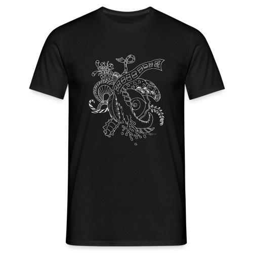 Fantasia valkoinen scribblesirii - Miesten t-paita