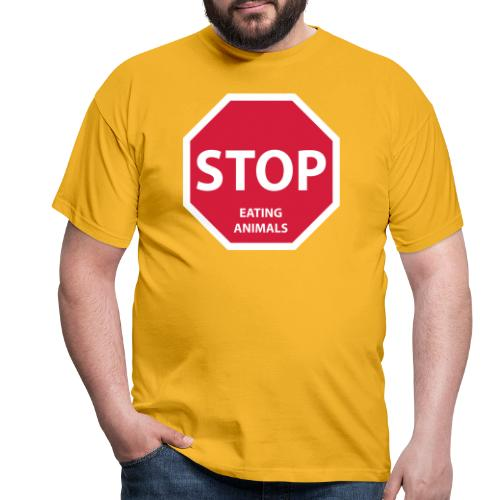 Stop-Eating-Animals - Männer T-Shirt