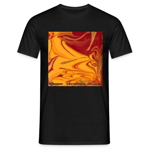 TIAN GREEN Mosaik DE102 - Erderwärmung zerstört .. - Männer T-Shirt