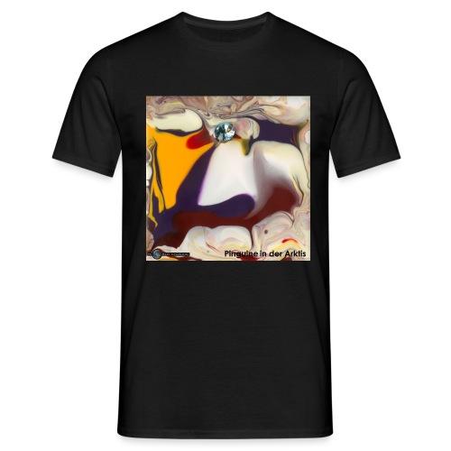 TIAN GREEN Mosaik DE104 - Pinguine in der Arktis - Männer T-Shirt