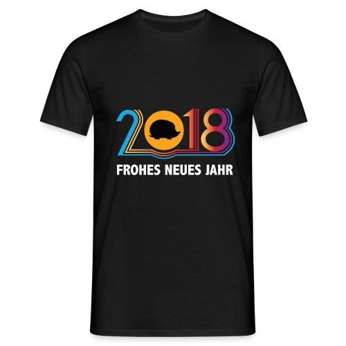 Frohes neues Jahr 2018 Igeldesign - Männer T-Shirt