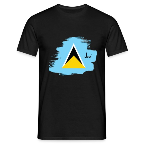 ST LUCIA BRUSH STROKE DESIGN - Men's T-Shirt