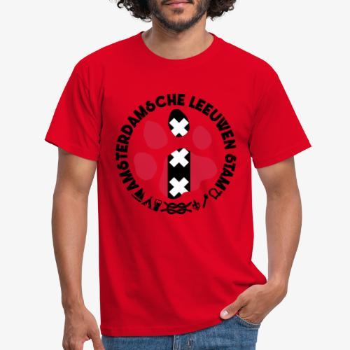 ALS witte cirkel lichtshi - Mannen T-shirt