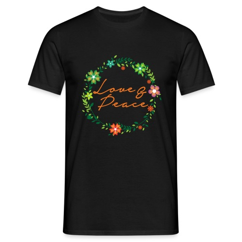 Love and Peace - Men's T-Shirt