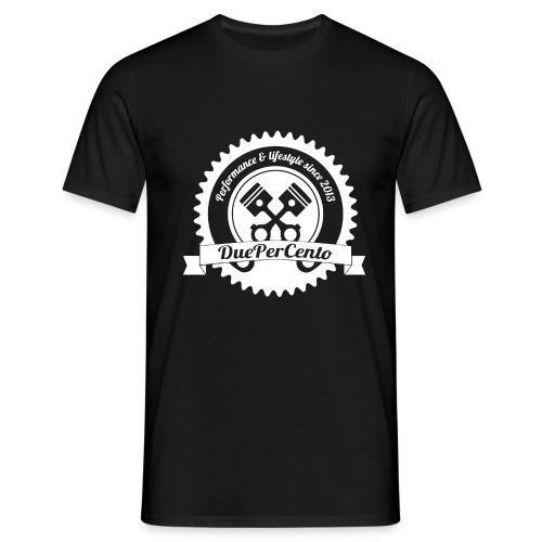 DuePerCento Logo Bianco - Maglietta da uomo