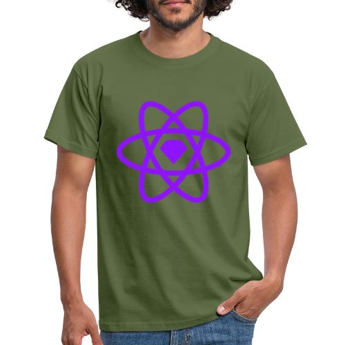 Sketch2React Dark Purple Logo - Men's T-Shirt