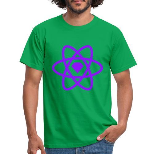 Sketch2React Dark Purple Logo - Men's T-Shirt