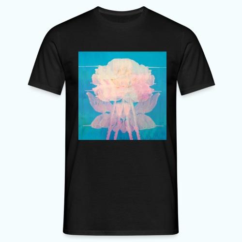 Flowers pop art watercolor - Men's T-Shirt