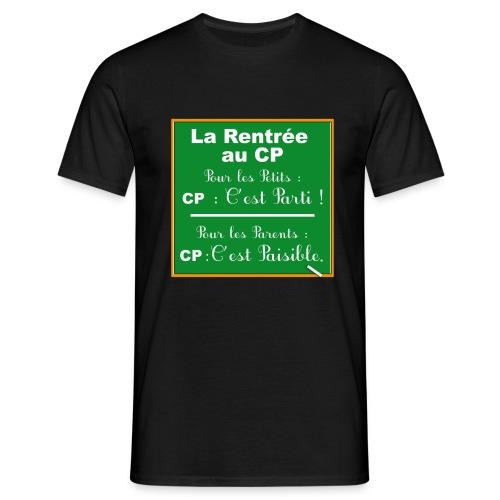 La rentrée au CP tableau craie - T-shirt Homme