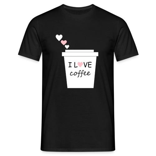 I Love Coffee (Yo amo el cafe) - Camiseta hombre