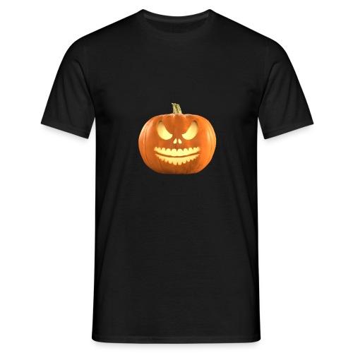 Halloween Pumpkin scary face 7 - T-skjorte for menn
