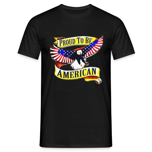 EAGLE PROUD TO BE AMERICAN UNISEX T-SHIRT - T-shirt Homme