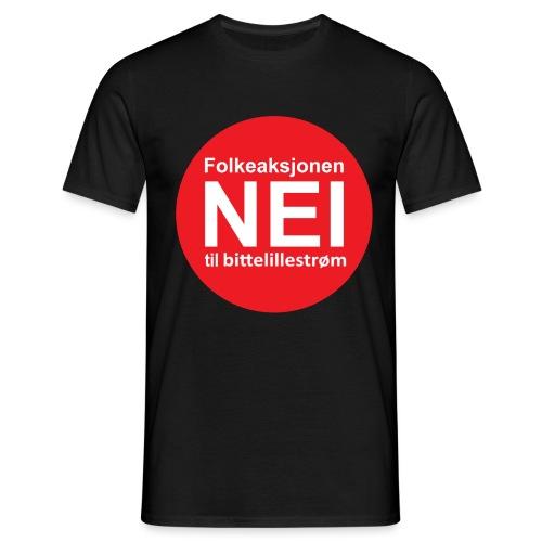 Folkeaksjonen NEI til Bittelillestrøm! - T-skjorte for menn