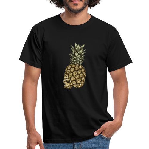 Skull kranium død - Ananas - Herre-T-shirt