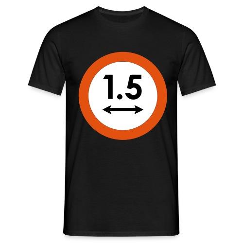 1,5m bord - Mannen T-shirt